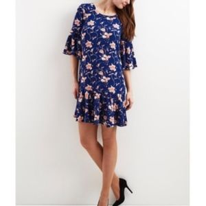 VILA Bell Sleeve floral dress | XL